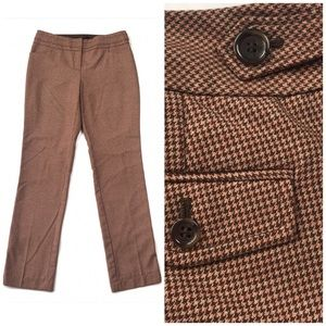 The Limited Cassidy Fit Houndstooth Straight Pant